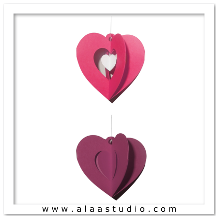 2 Hanging hearts