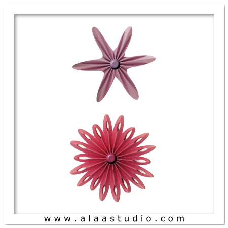 2 Pleated Rosette Flowers 1