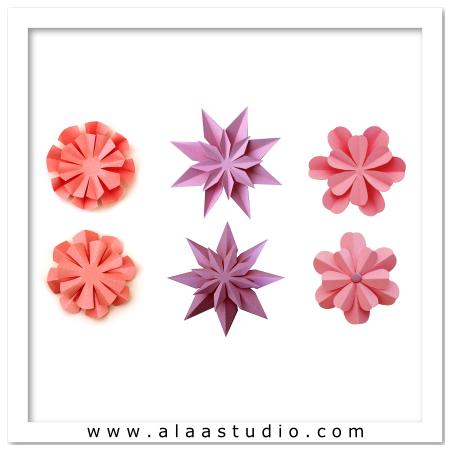 3D 2 Way fold flowers 1
