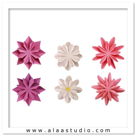 3D 2 Way fold flowers 2