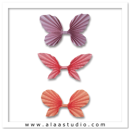 3D Pleated butterflies set 1