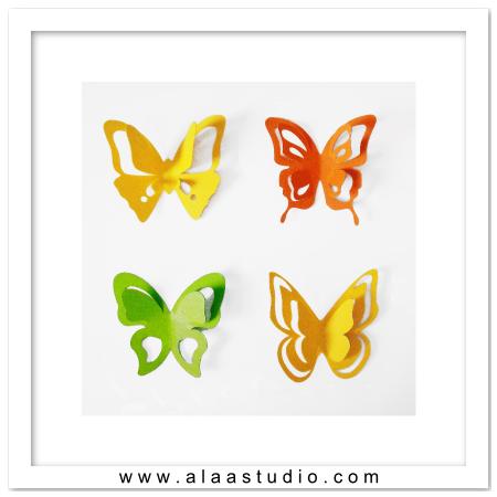 3D Pop out butterflies 2