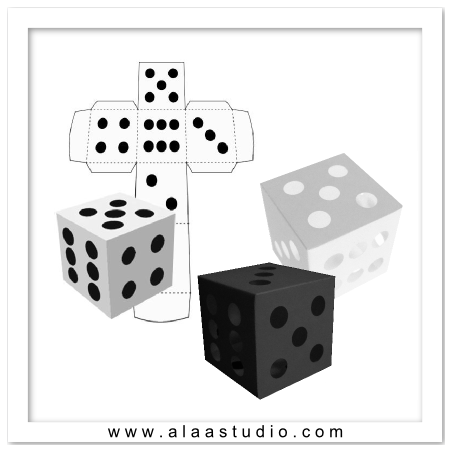 3D Dice Boxes Set