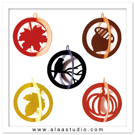 3D Fall Ornaments