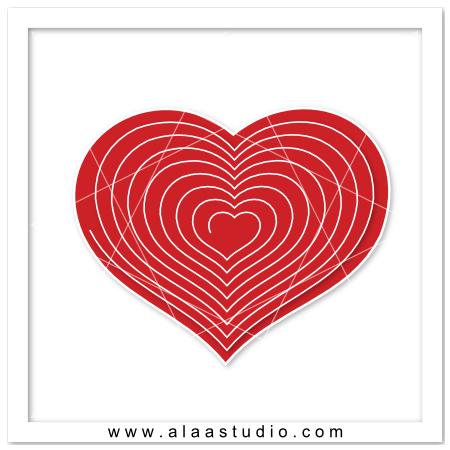 3D Spiral cut heart