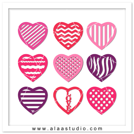 8 Pattern hearts