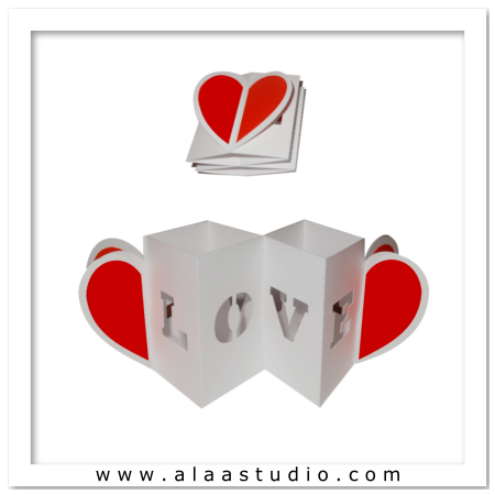 Accordion expandable heart card