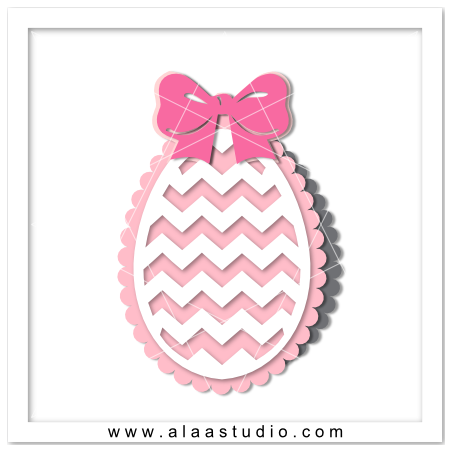 Chevrons egg shaped card