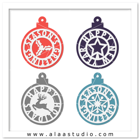Holidays ornaments tags 1