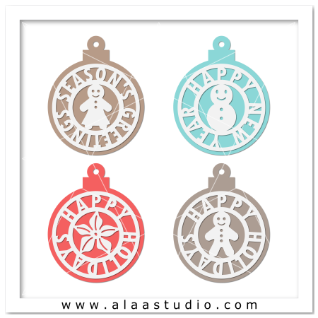 Holidays ornaments tags 3