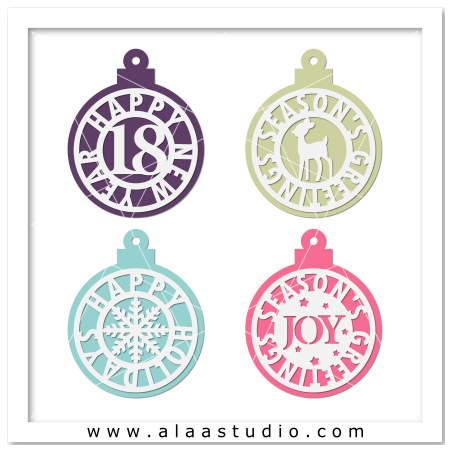 Holidays ornaments tags 4