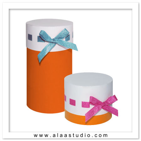 Cylinder Ribbon Boxes set