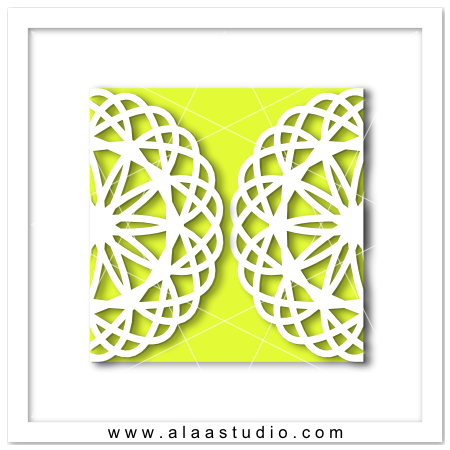 Doily gate fold card 6