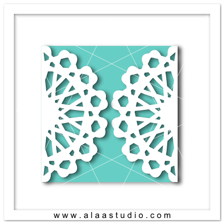 Doily gate fold card 7