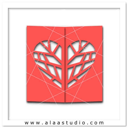 Heart tree gate fold card