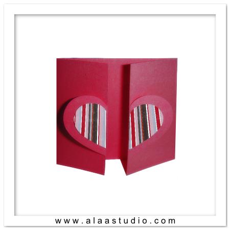 Gate fold heart card