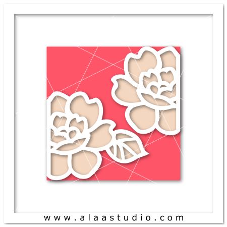 Rose gate fold card