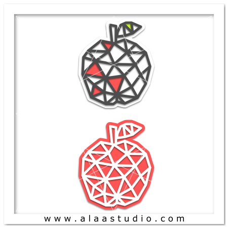 Geometric mesh apple