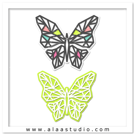 Geometric mesh butterfly