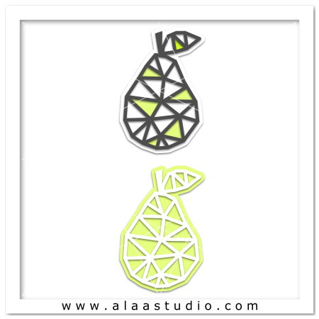 Geometric mesh pear