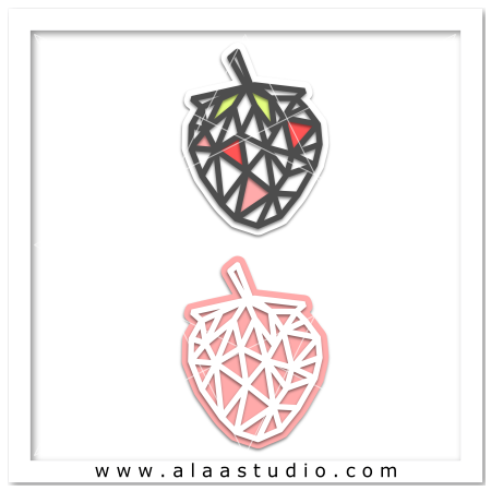 Geometric mesh strawberry