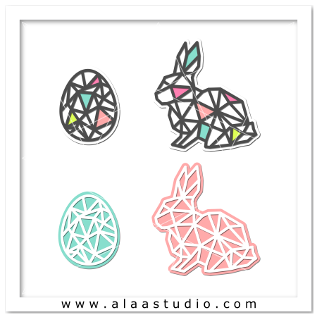 Geometric rabbit and egg