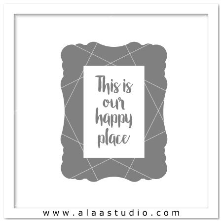 Artisan vinyl quote frame