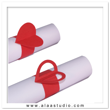 2 Hearts Napkin rings