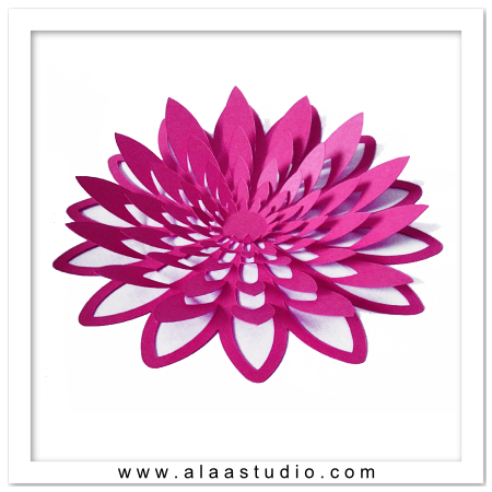 3D Large pop out flower 2