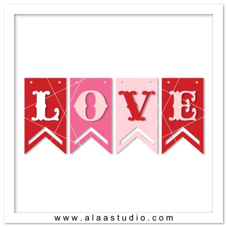 Love word banner
