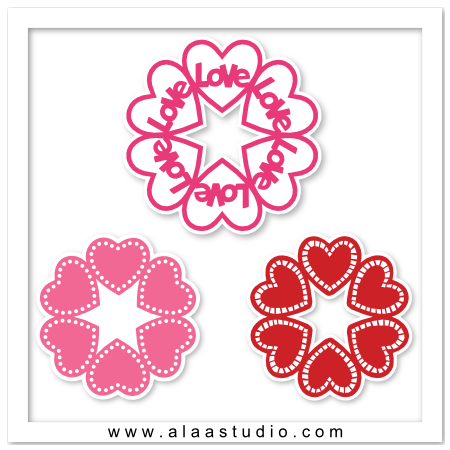 Love hearts doilies