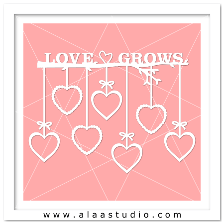 Love Grows tree branch frame