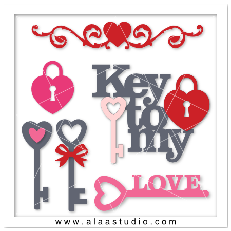 Love lock & keys