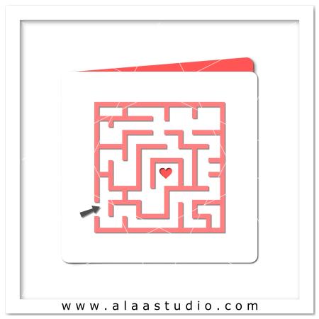 Love maze card