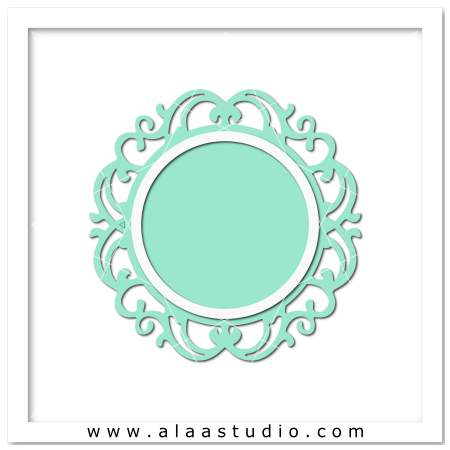 Ornate circle frame 1