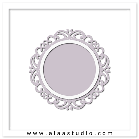Ornate circle frame 2