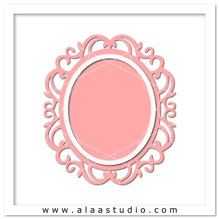 Ornate oval frame