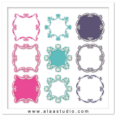 Artisan ornate frames