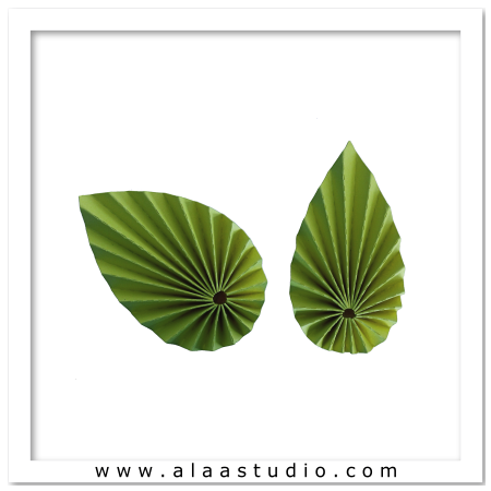 2 Pleated symmetric leaves