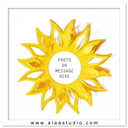 Pop out Sunflower Frame