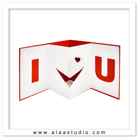 Pop out I heart U card