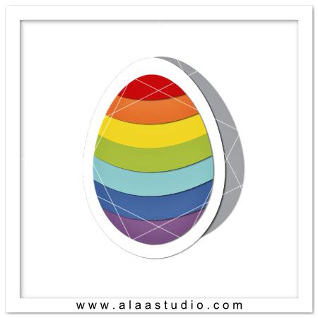 Rainbow shaped egg card
