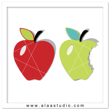 2 Apples cards