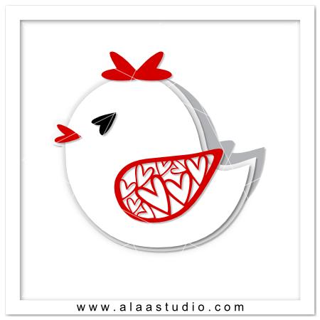 Love birdie card