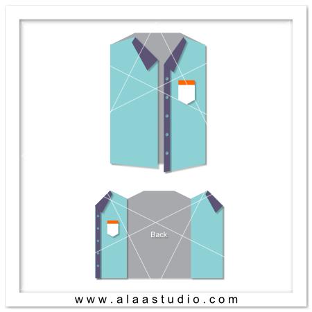Gate fold shirt card