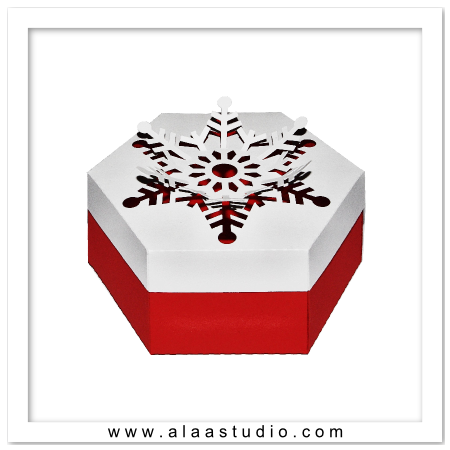 Pop out Snowflake Box