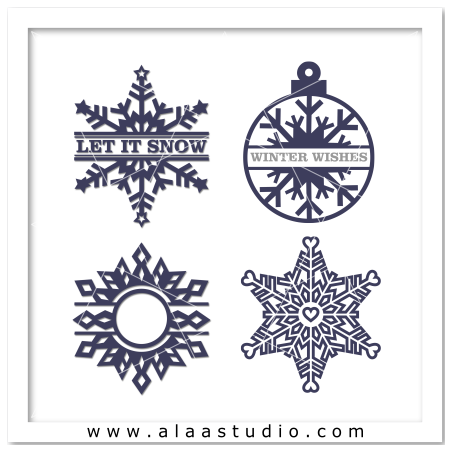 Snowflakes winter ornaments