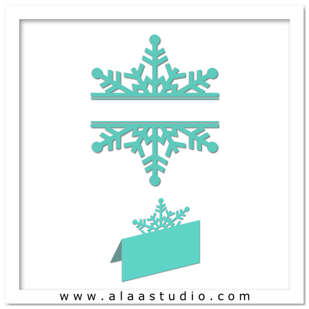 Snowflakes split w place card