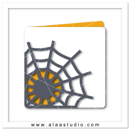 Spider web cut out Card