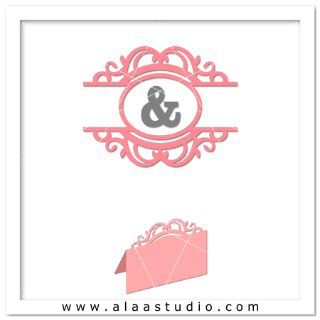 Ornate monogram w place card